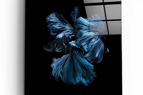 Betta Fish UV Printed Glass Painting