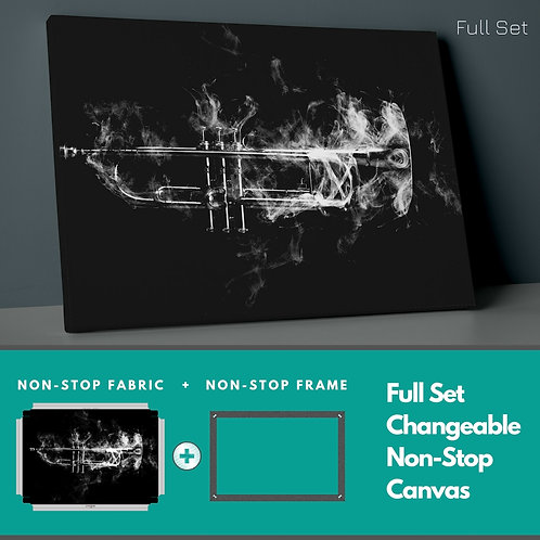 Smoky Trumpet Non-Stop Canvas Printings