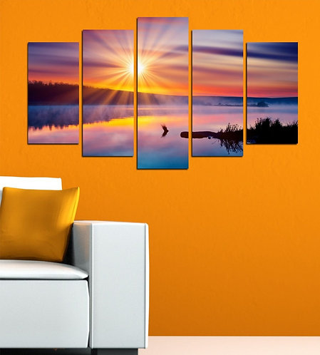 Still Lake 5 Pieces MDF Painting