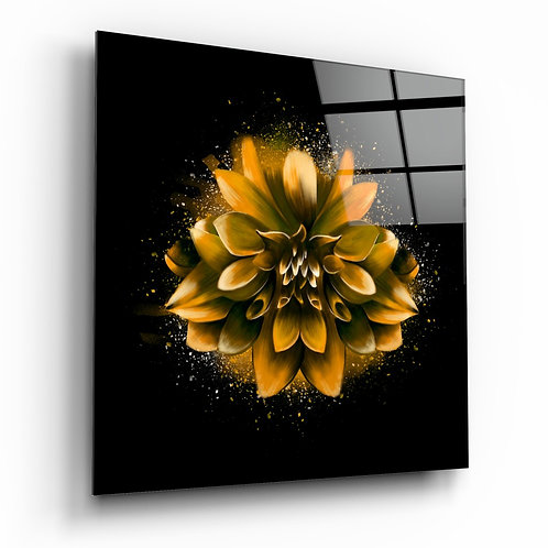 Yellow Lotus Glass Printing