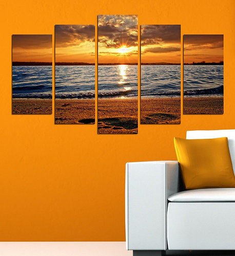 Sea View (5) 5 Pieces MDF Painting