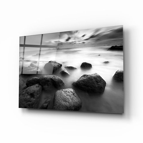Cliffs UV Printed Glass Painting