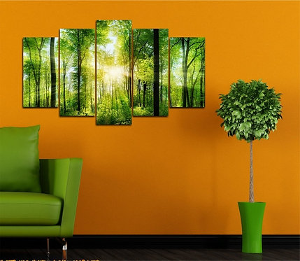 Forest 5 Pieces MDF Painting