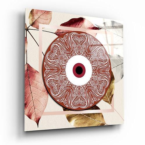 Red Modern Evil Eye Glass Printing