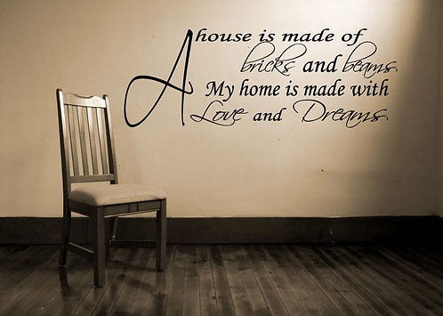 A House �s A Made Of Wall Sticker