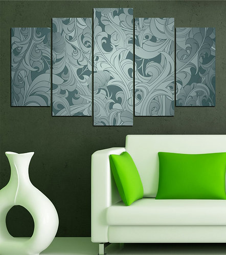 Abstract (12) 5 Pieces MDF Painting