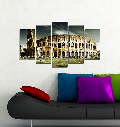 Colosseum 5 Pieces MDF Painting