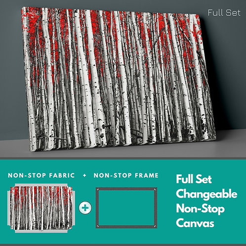 Red Forest Non-Stop Canvas Printings