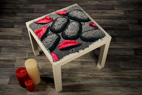 Red Leaves Printed Coffee Tables