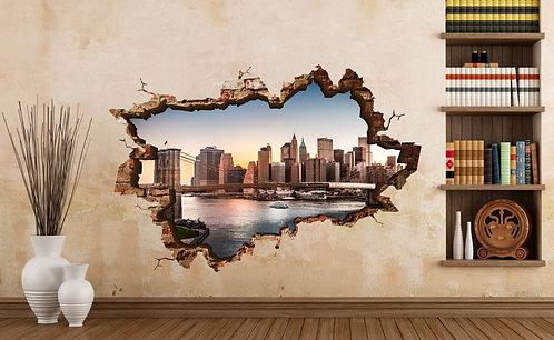 Brooklyn Bridge 3D Wall Sticker