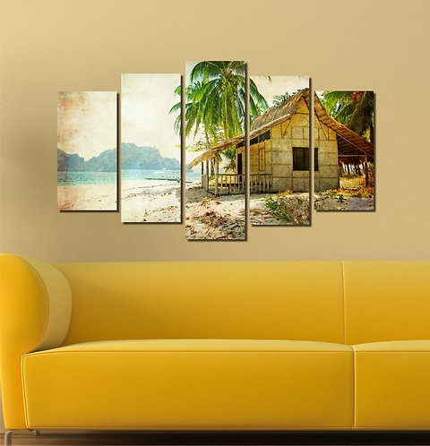 The Home 5 Pieces MDF Painting