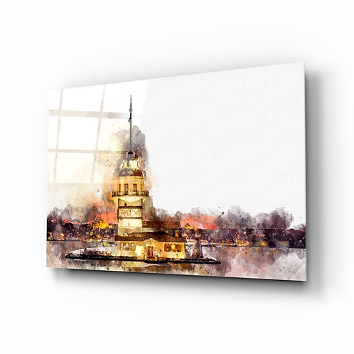 Maiden's Tower UV Printed Glass Painting