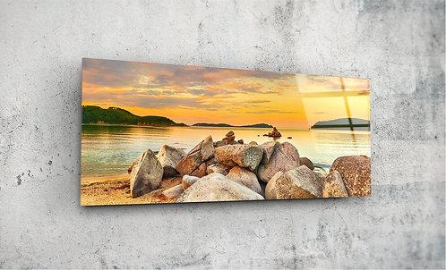 Seaside  UV Glass Painting