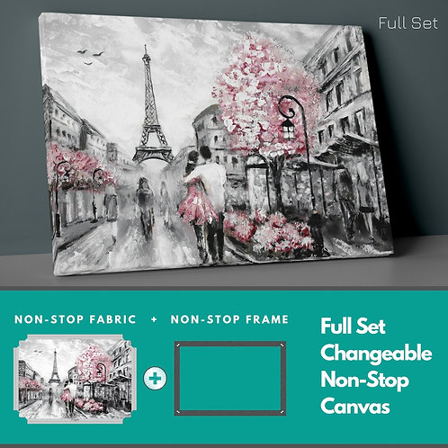 Pink Paris Cabin Non-Stop Canvas Printings