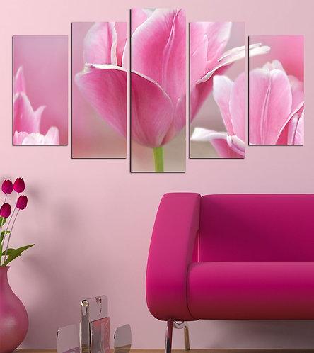 Tulip (2) 5 Pieces MDF Painting