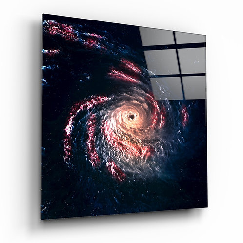 Space - Black Hole Glass Printing