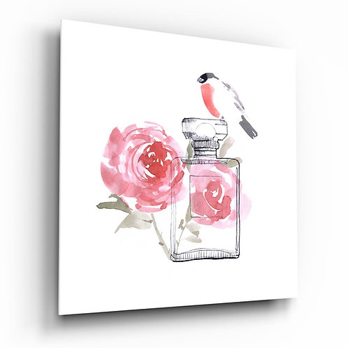 Perfume UV Printed Glass Painting
