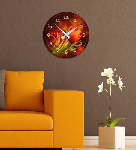 Tulip MDF Clock