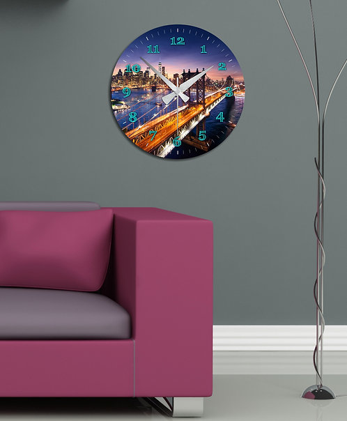 Big Apple MDF Clock