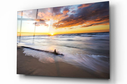 Sunset UV Printed Glass Painting