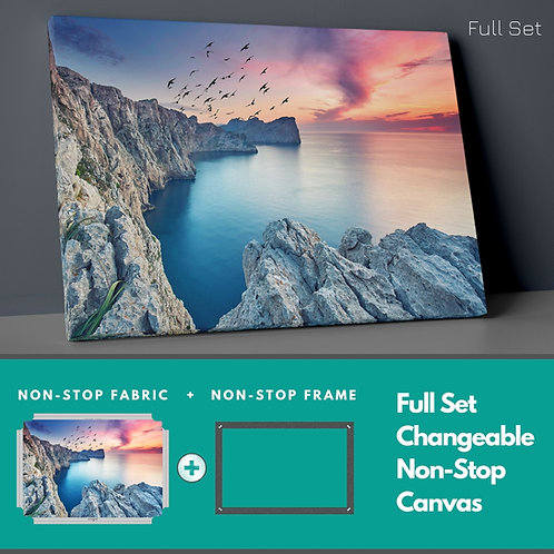 Cliffs And Sunset Non-Stop Canvas Printings