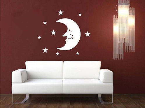 Moon Grandfather  Wall Sticker