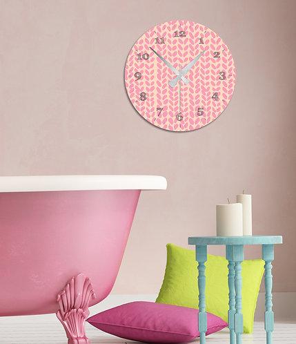 Pink MDF Clock