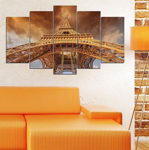 Eiffel 5 Pieces MDF Painting