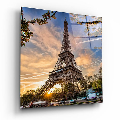 Eiffel Tower UV Printed Glass Painting