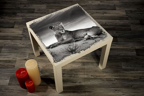 Female Lion Printed Coffee Tables
