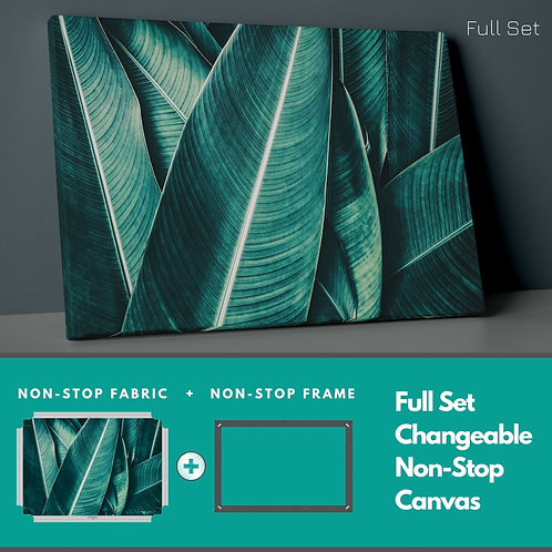 Green Leaves Non-Stop Canvas Printings