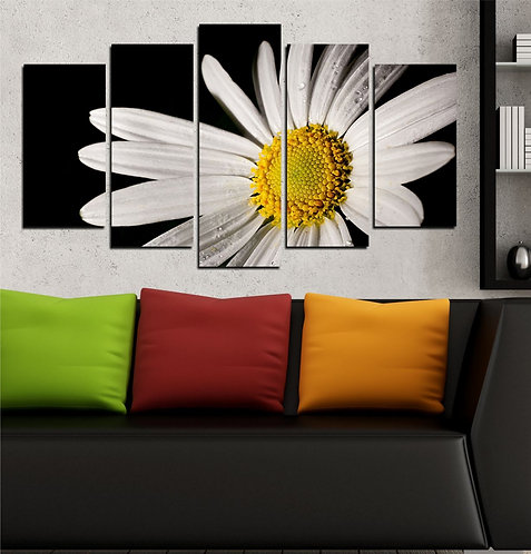 Daisy 5 Pieces MDF Painting