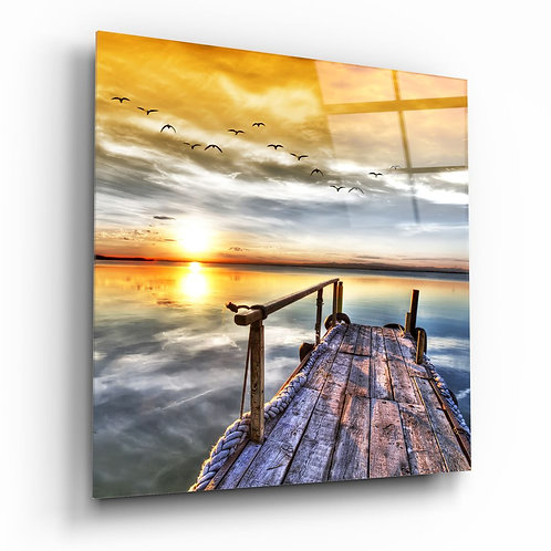 Sunset Landscape UV Printed Glass Printing