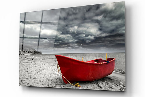 Sail Boat UV Printed Glass Painting