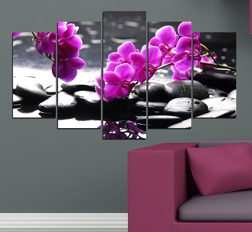 Spa (2) 5 Pieces MDF Painting