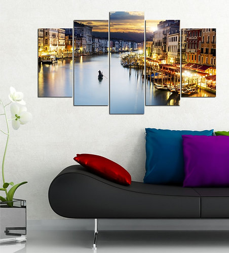 Venice 5 Pieces MDF Painting