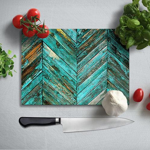 Colored Uv Printed Glass Chopping Board 35x25 cm