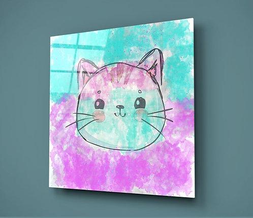 Cat UV Printed Glass Printing