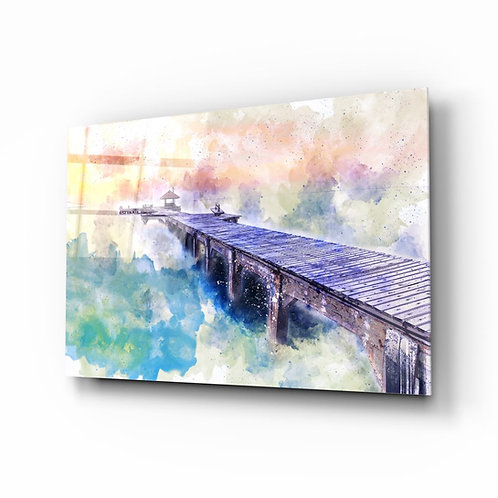 Illustration Dock UV Printed Glass Painting