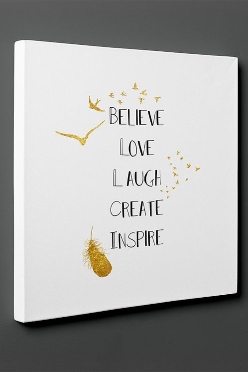 Believe Canvas Printings