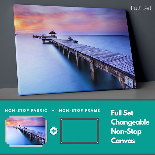 Red Peace At The Pier Non-Stop Canvas Printings