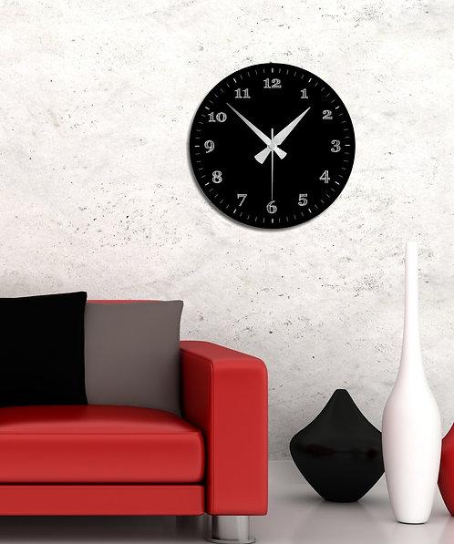 Black MDF Clock