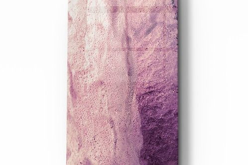 Pink Abstract Pattern Glass Painting