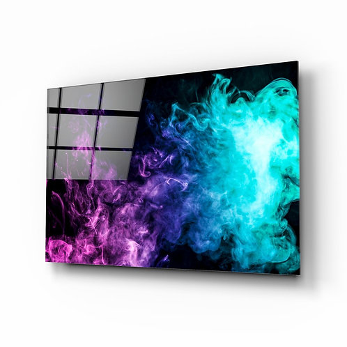 Colored Smoke UV Printed Glass Painting
