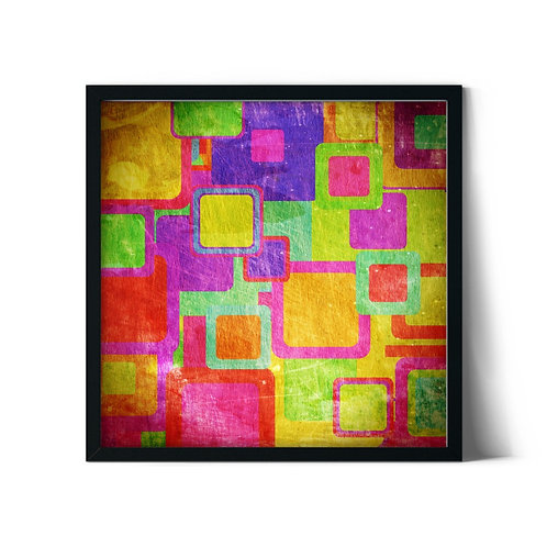 Patchwork Framed Painting