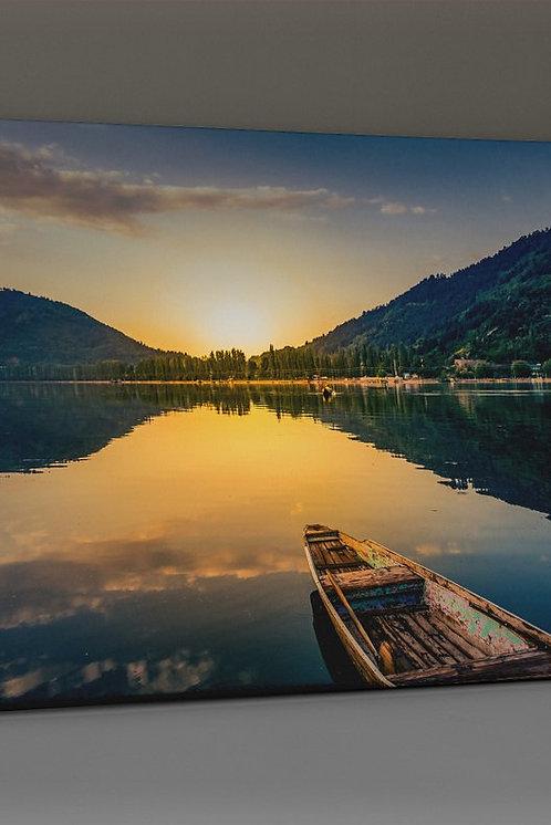 Kayak �n The Lake Canvas Printings