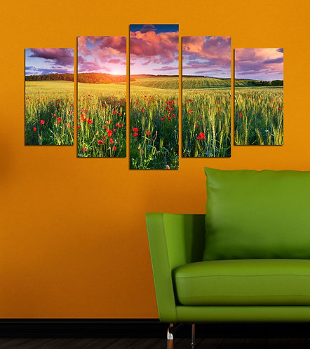 Nature Spot (7) 5 Pieces MDF Painting