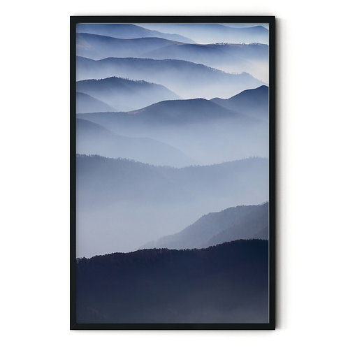 Foggy Valley Framed Wall Art