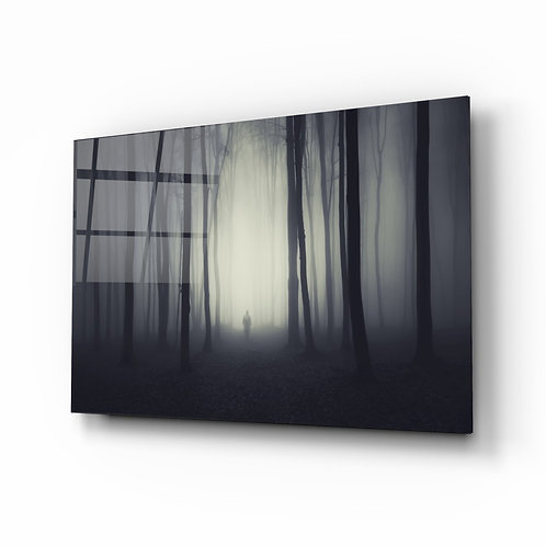 Foggy Forest Glass Printing