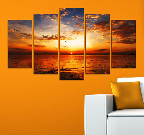 Sea View (6) 5 Pieces MDF Painting